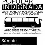 Autobuses de ida y vuelta para la manifestación del día 24 de Julio en Madrid