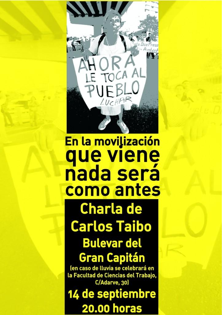 Cartel charla Carlos Taibo