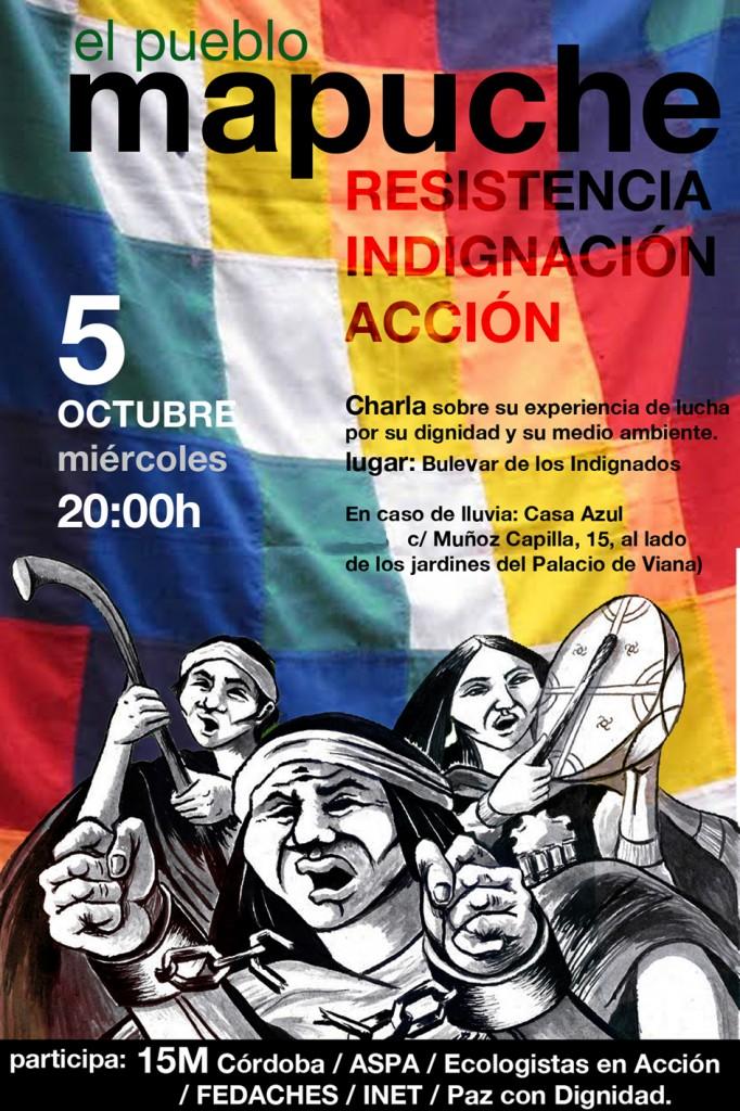 Cartel charla Pueblo Mapuche
