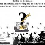 Taller: Entender el sistema electoral para decidir con criterio