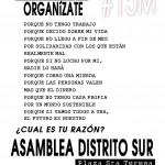 Asamblea 15M Distrito Sur martes 7