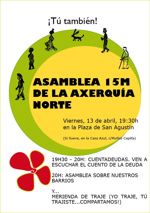 Cartel convocatoria Asamblea 15M Axerquía Norte