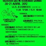 Jornadas por la Educación Pública el 20-21 de abril