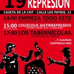 Feria antirrepresiva el sabado 19, caseta CNT
