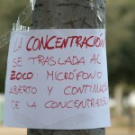 Fotografías de la concentración contra la privatización de la sanidad. Cartel.