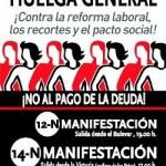 El 15M participa en la huelga general del 14N